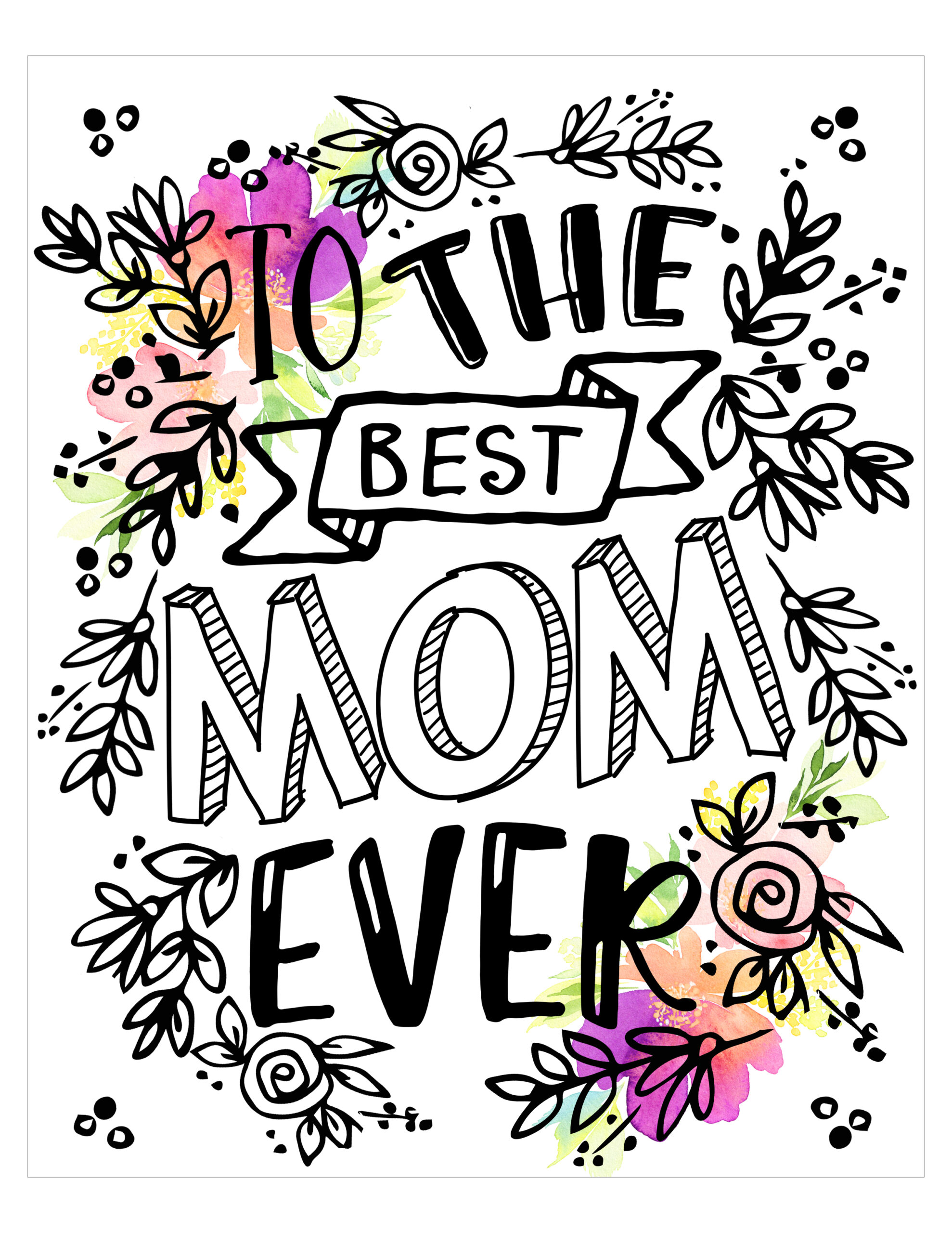 gorgeous free typography mom and mum printables tags included