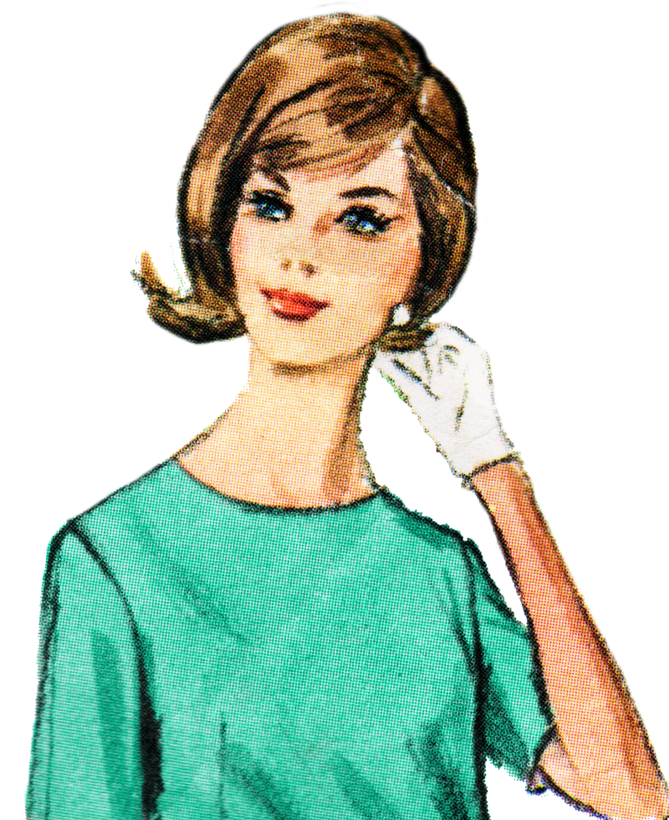 Free Retro Lady Clip Art - Free Pretty Things For You
