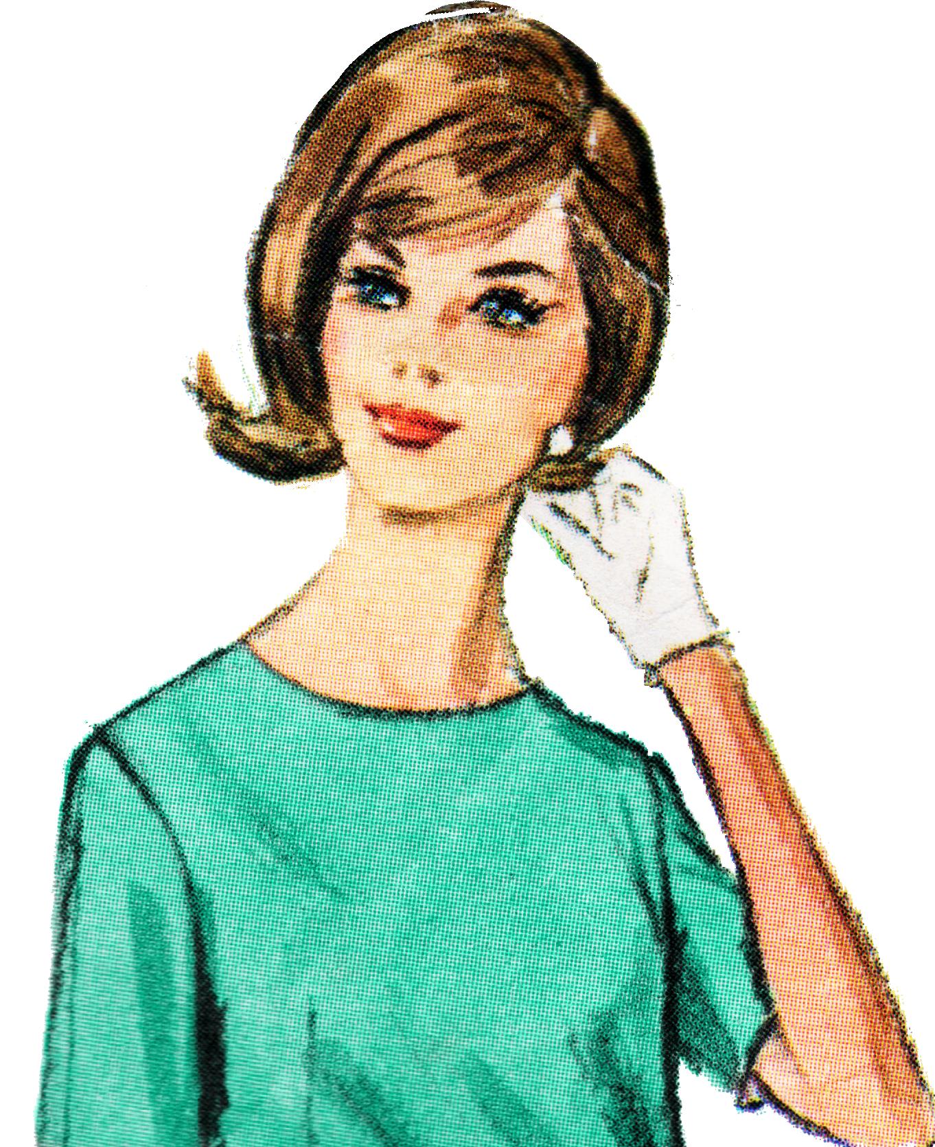 vintage lady clipart - photo #25