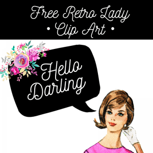 Free Retro Lady Clip Art