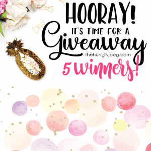 Hooray- It's Time For a Giveaway-THJ Bundles /// 5 Winners! // Free Gold Speckled Paper