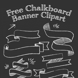 Free Chalkboard Banner Clipart