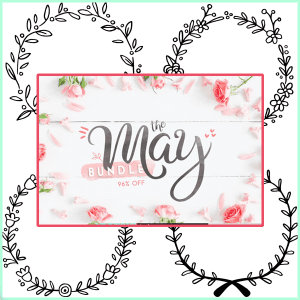 Last Chance Coupon Code for 20% OFF The May Bundle // Free Doodle Wreaths!!