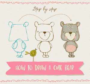How to: Draw a Cute Bear by Lisa Glanz + Freebies!