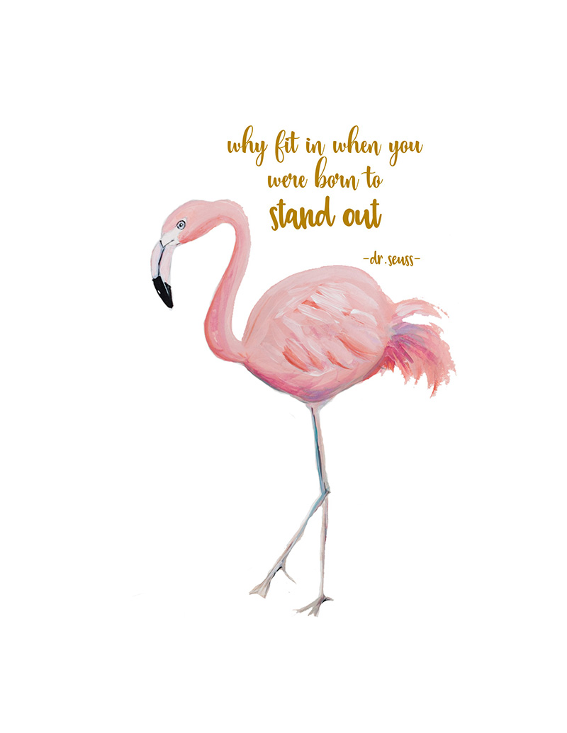Exceptional image in flamingo printable