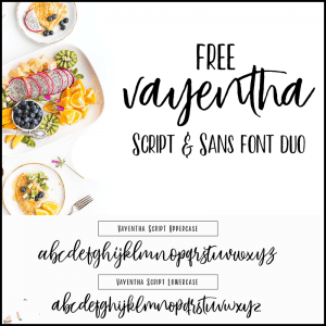 Free Vayentha Script and Sans Font Duo!