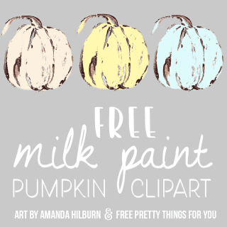 Free Farmhouse Milk Paint Pumpkin Images