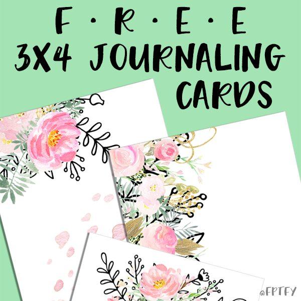Free 3x4 journaling card printables