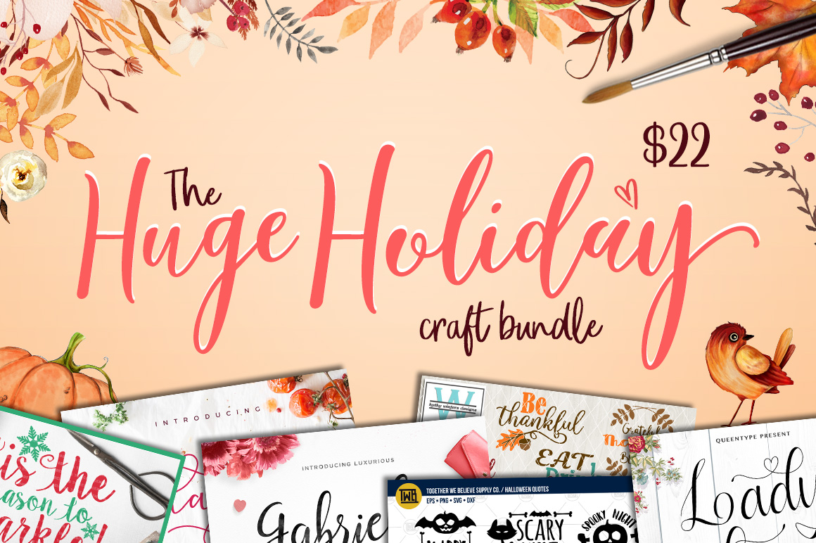 Free SVG Files /// THE HUGE HOLIDAY CRAFT PACK - Free Pretty Things