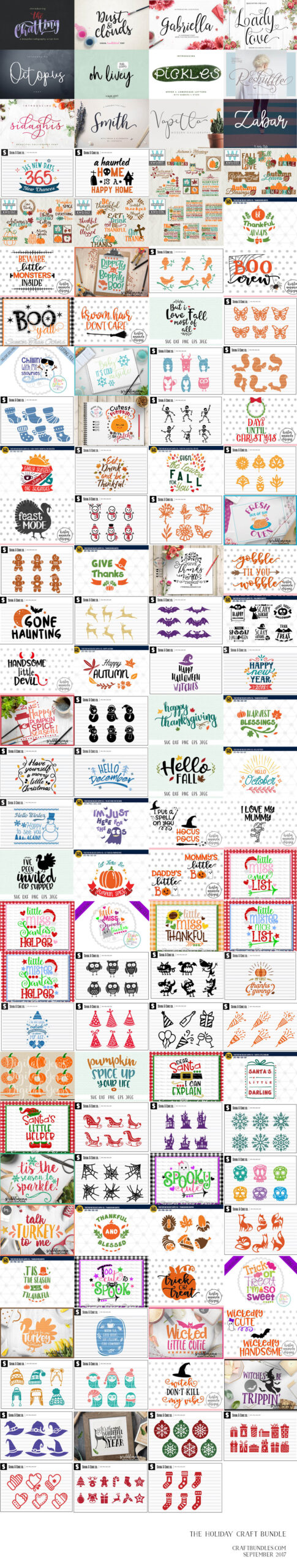Free SVG Files /// THE HUGE HOLIDAY CRAFT PACK - Free Pretty
