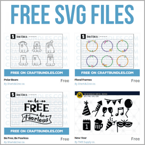 New Free SVG Cutting Files