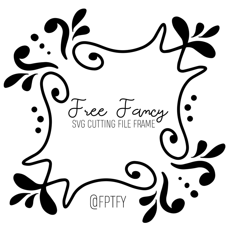 Free fancy SVG CUTTING FILE Frame