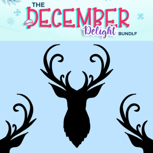 Free Reindeer Antler Head SVG Cut File