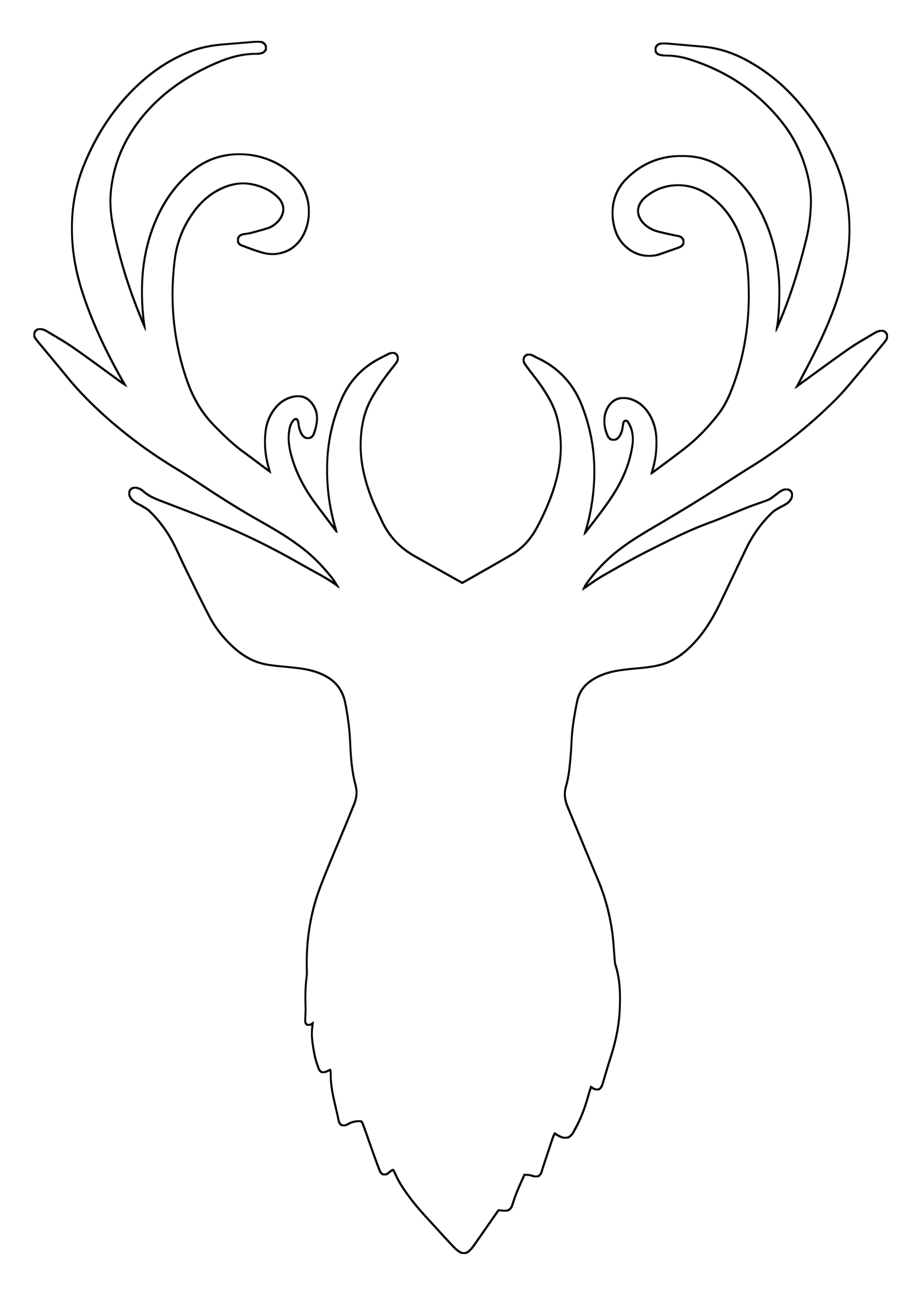 Free Reindeer Antler Head Svg Cut File Free Pretty Things For You