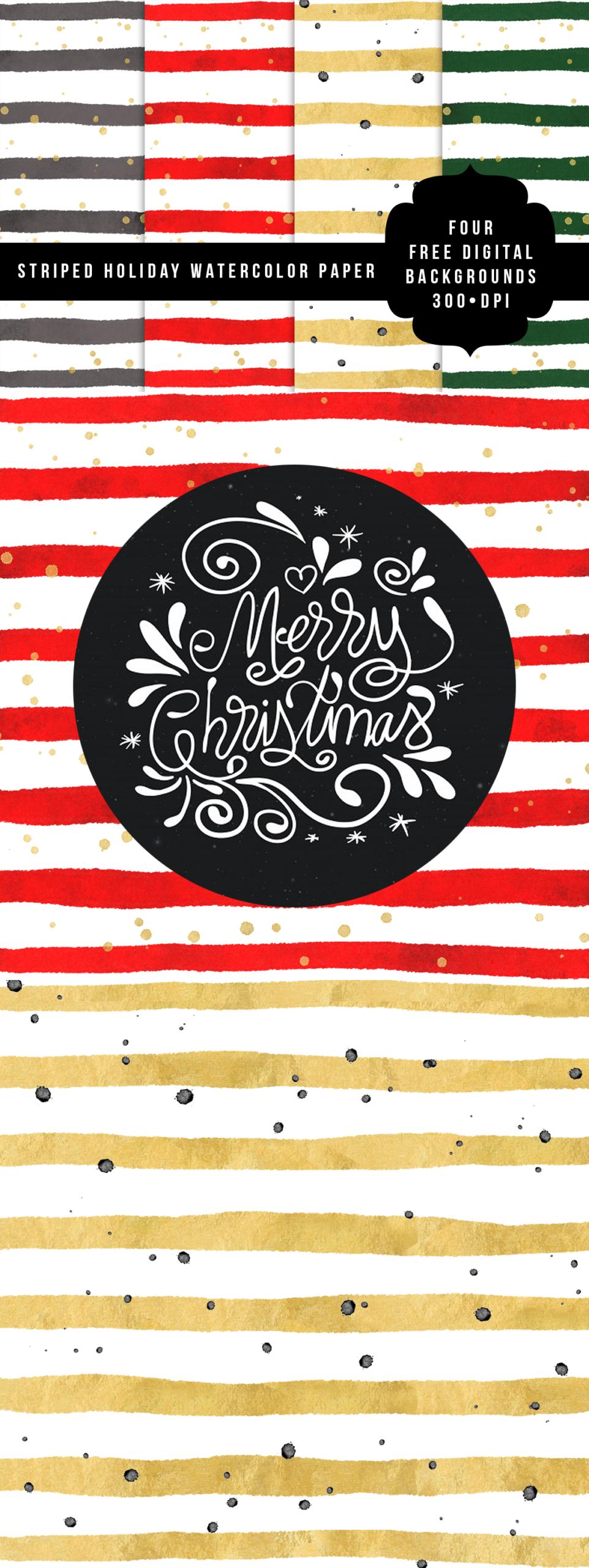 Download Holiday Basics Digital Paper PNG