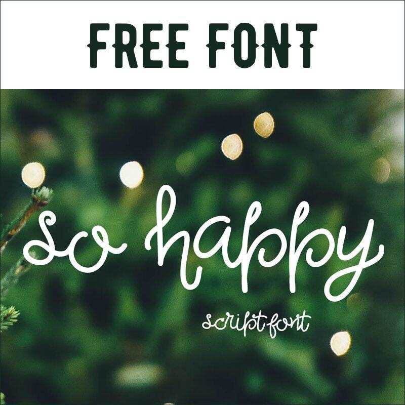 Free Font: So Happy