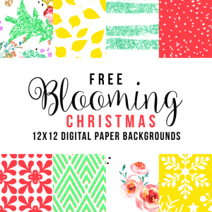 Free Blooming Christmas Digital Paper Collection!