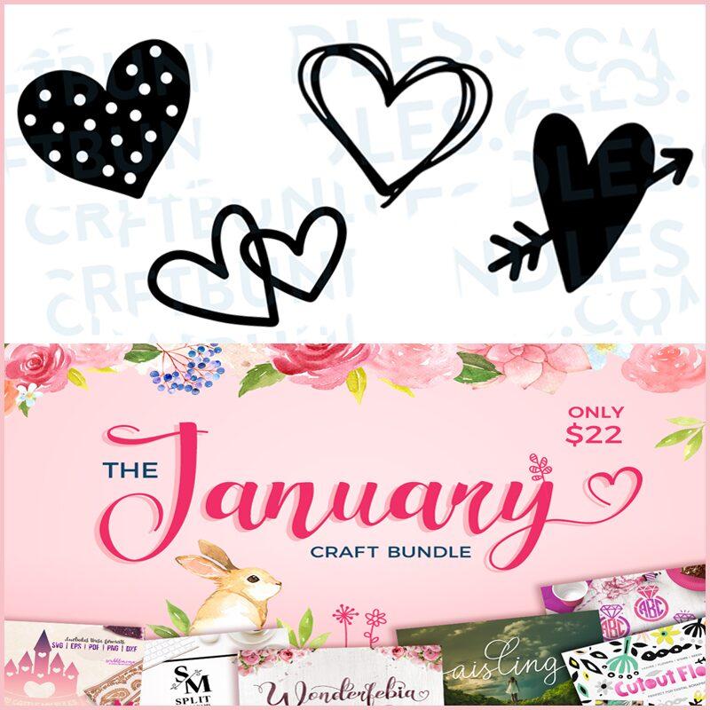 FREE Doodle Hearts- SVG Cut Files