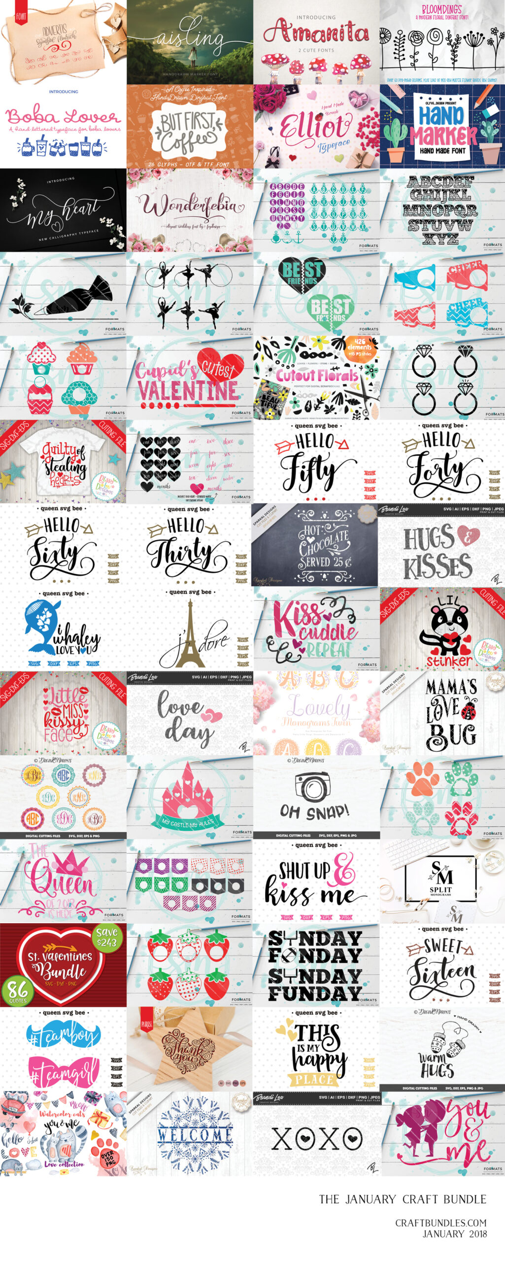 FREE Doodle Hearts - Free Pretty Things For You