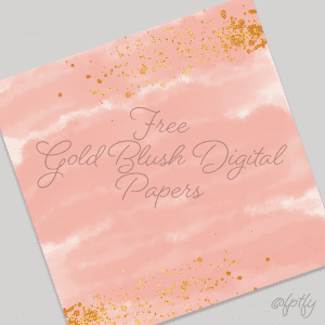 Free Gold Blush Digital Paper Backgrounds