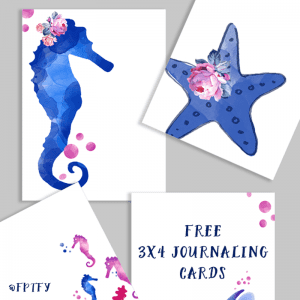 Free Under the Sea Garden 3×4 Journaling Cards