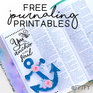 Free Journaling Floral Anchors and Graphics