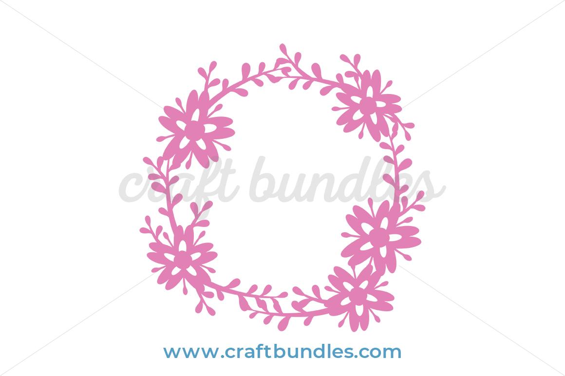 Free Floral Spray Wreath Svg Cut File