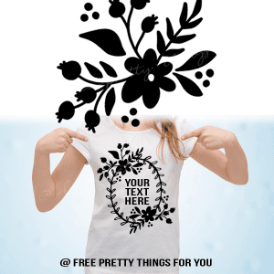 Free Floral Spray/Wreath SVG cut file