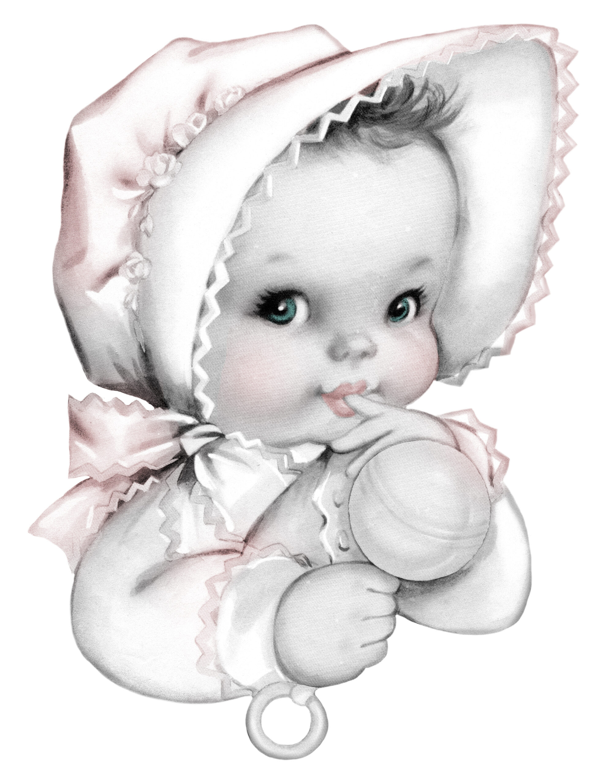 Free Vintage Baby Girl Graphics