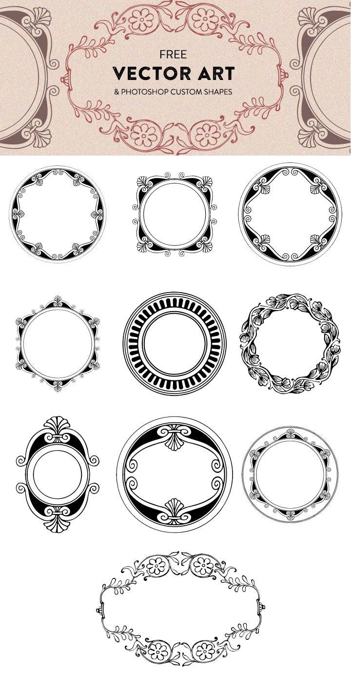 Free Fancy Vector Art Shapes