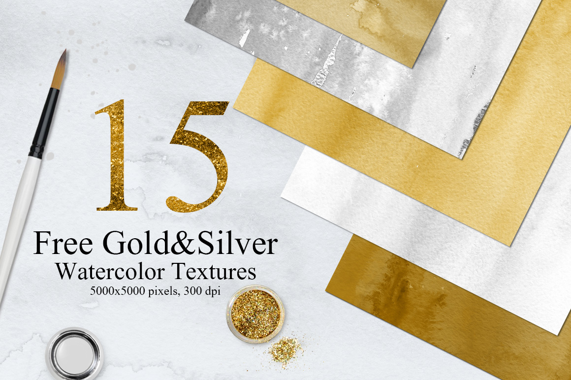 15-Free-GoldSilver-Watercolor-Textures