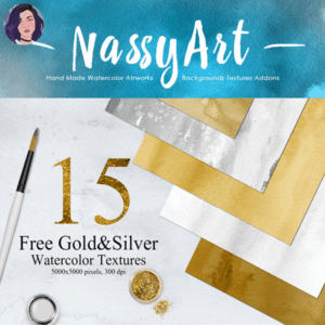 15 Free GoldSilver Watercolor Textures