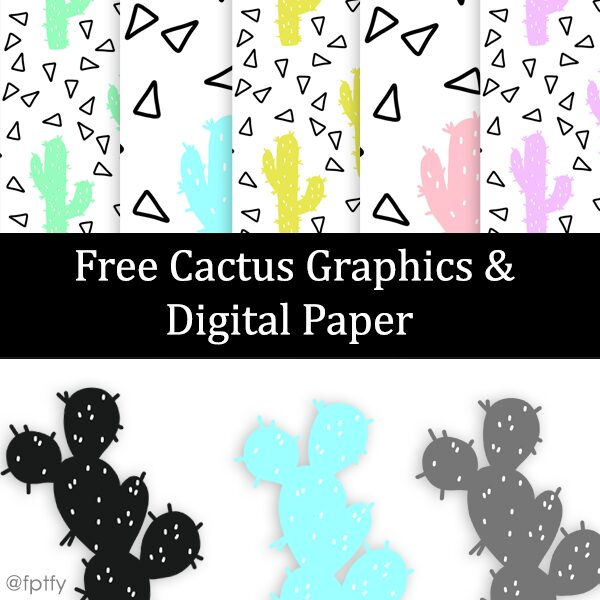 Free Cactus Graphics & Digital Paper
