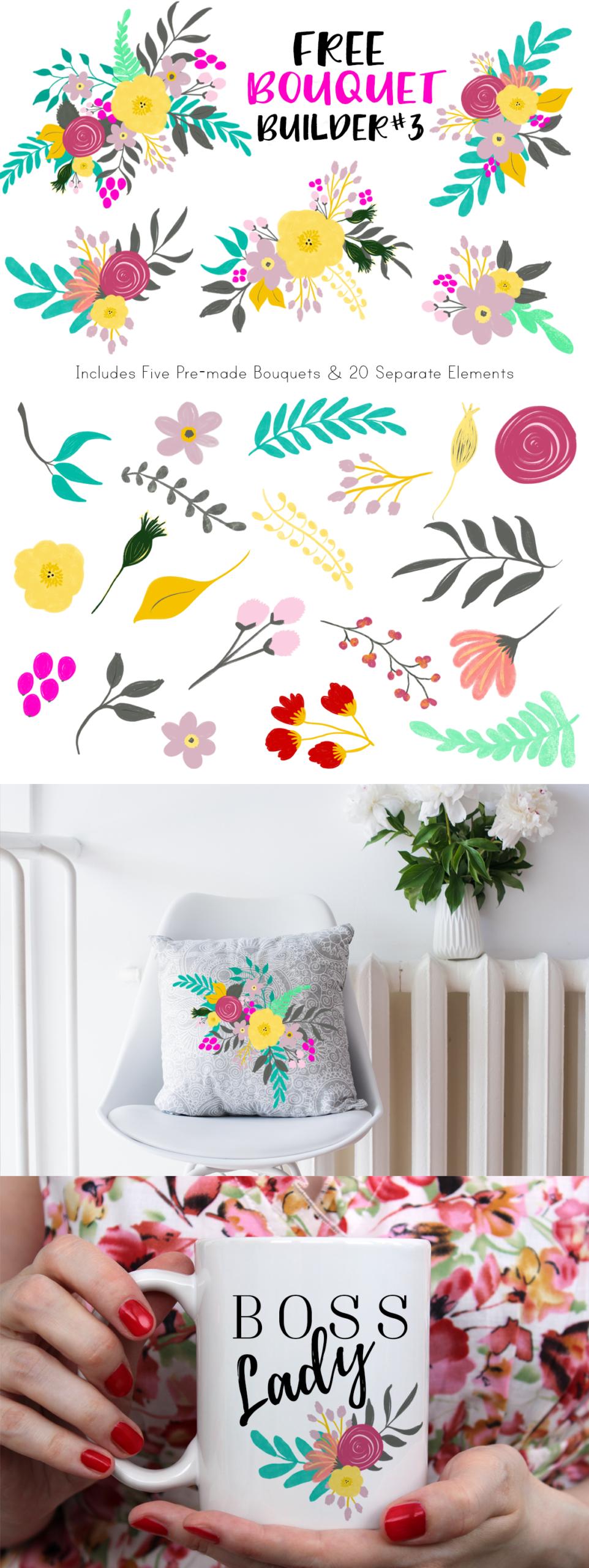 Free Floral Bouquet Graphics