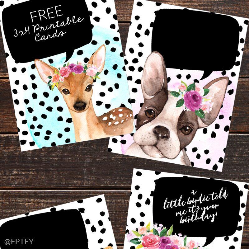 Free Animal Journaling Cards