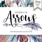 Free Watercolor Boho Arrows