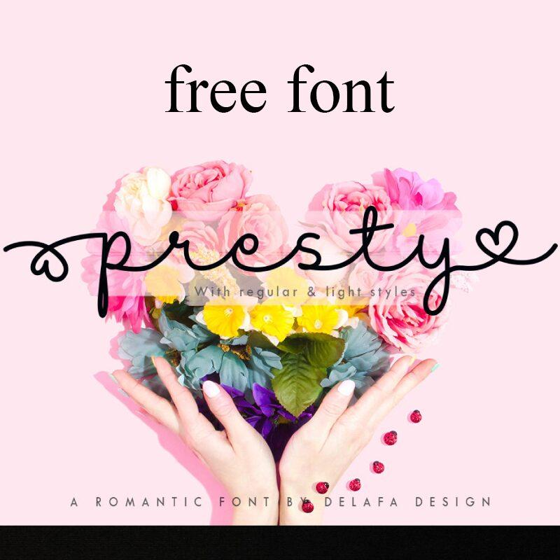 Free Presty Font
