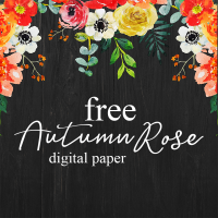 Free Autumn Rose Digital Paper