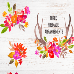free autumn Antler flowers