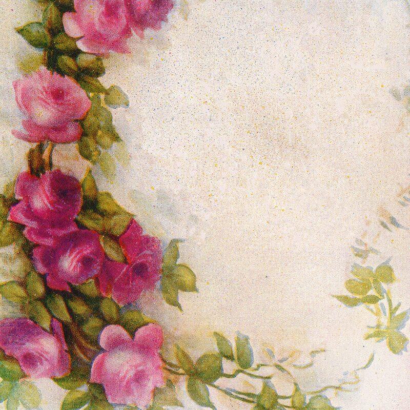 Free Vintage Rose Postcard
