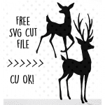 deer buck and doe svg free
