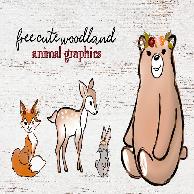 free woodland animal graphics