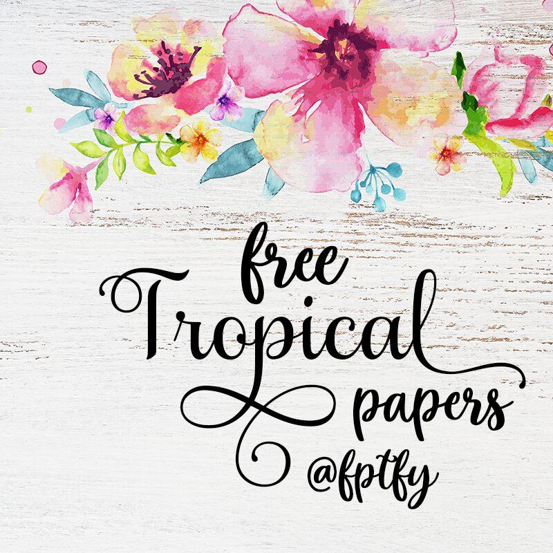 Free Tropical Floral digital scrapbooking