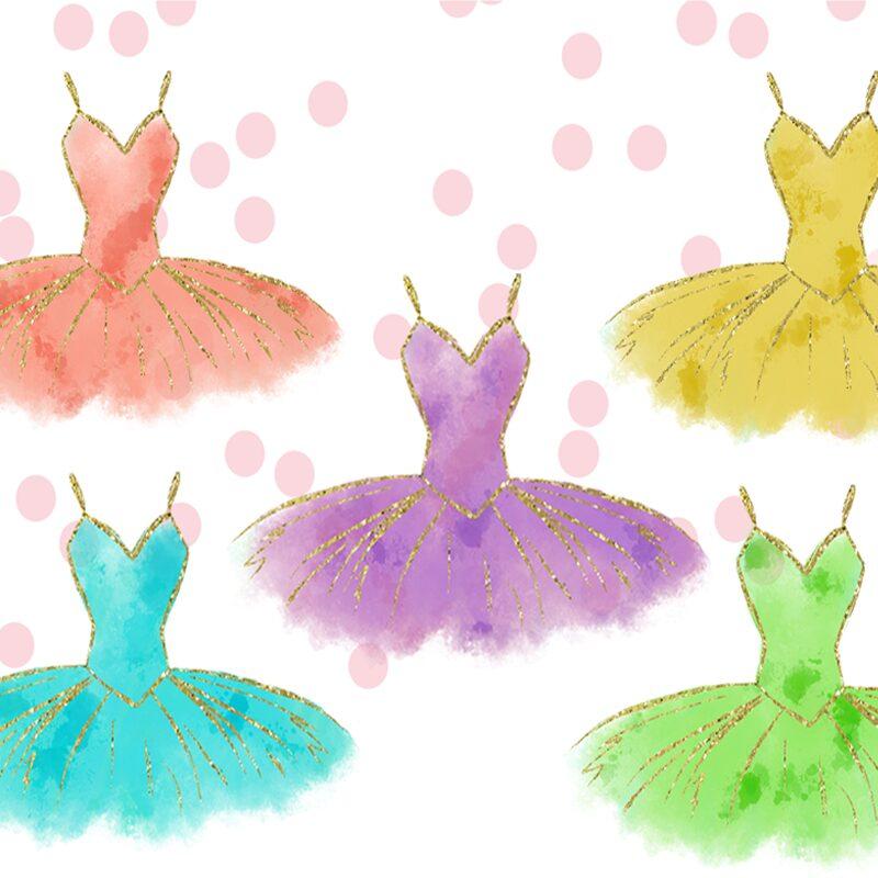 Ballerina tutu dress graphics