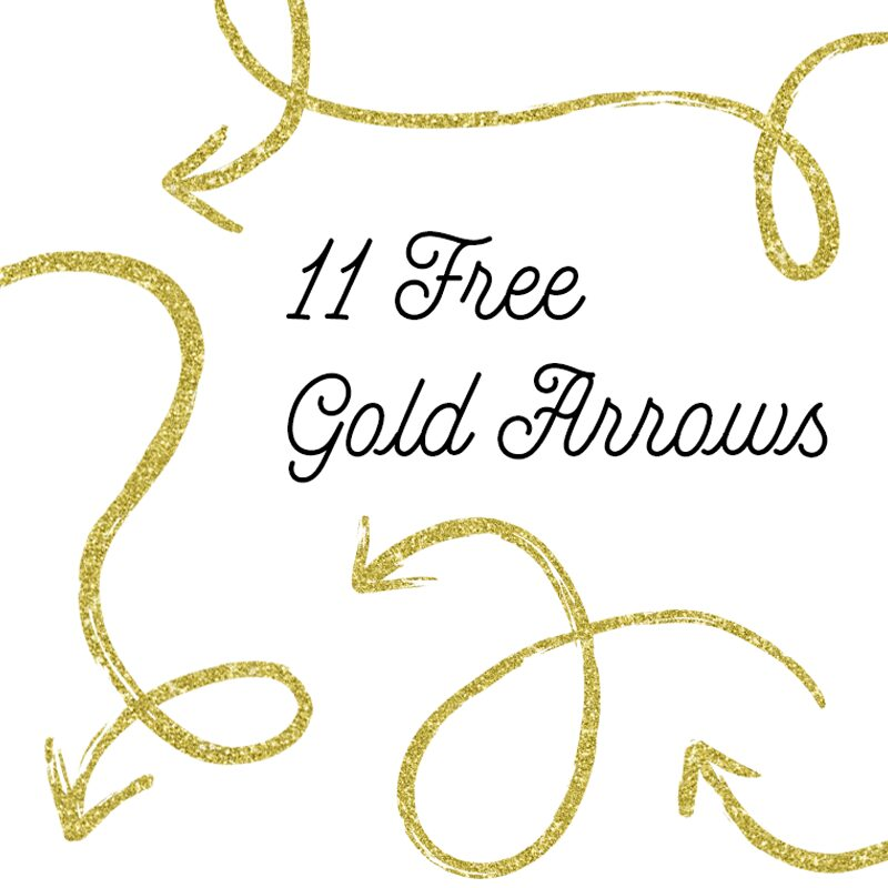 Golden arrow Clipart Images