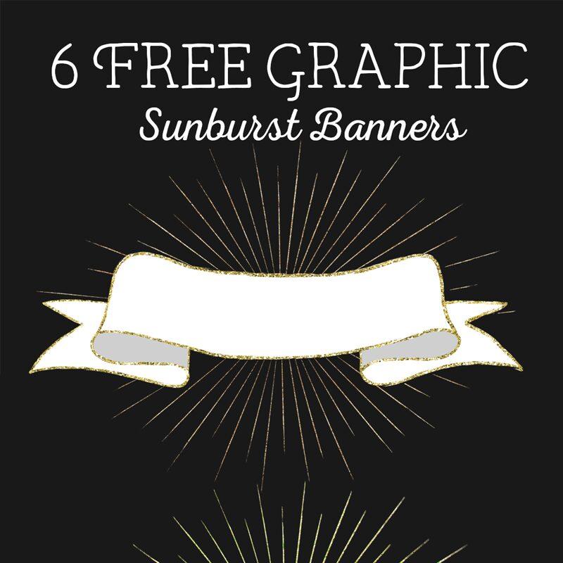 Sunburst Banner graphics
