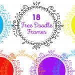 18 free doodle frames graphics