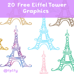 eiffel tower clip art graphics