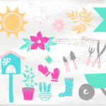 Summer Garden Clipart Graphics