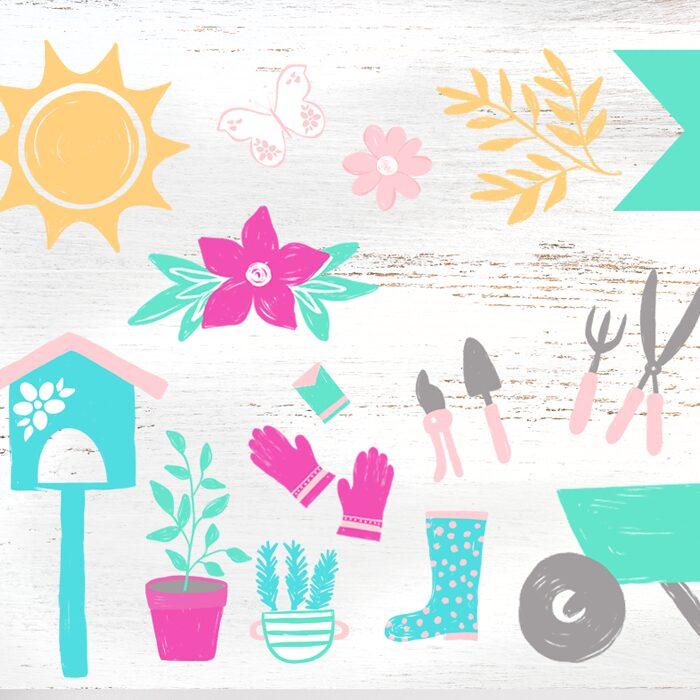 Summer Garden Clipart Graphics